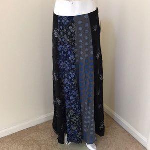NWT! Free People Navy combo maxi skirt